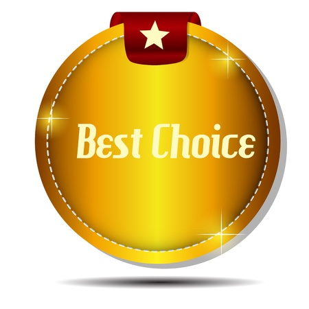Vector best choice  label with red ribbon  Stock Vector - 17539422
