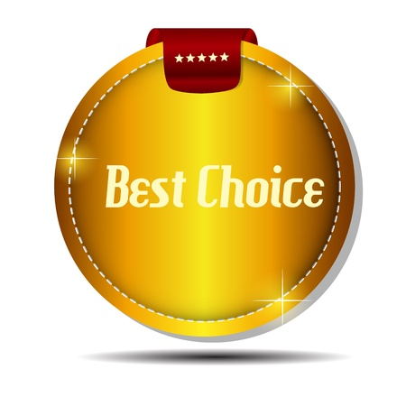 Vector best choice  label with red ribbon  Stock Vector - 17539118