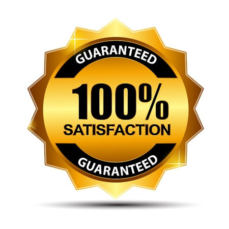 Vector 100  satisfaction guaranteed  label   Stock Vector - 17538692