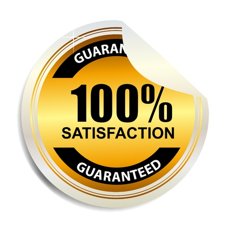 100   satisfaction label stickers vector illustration Stock Illustration - 17538781