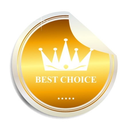 Vector Best choice label  sticker Stock Vector - 17538897