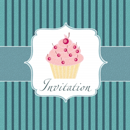 cupcake invitation background Stock Photo - 17539423