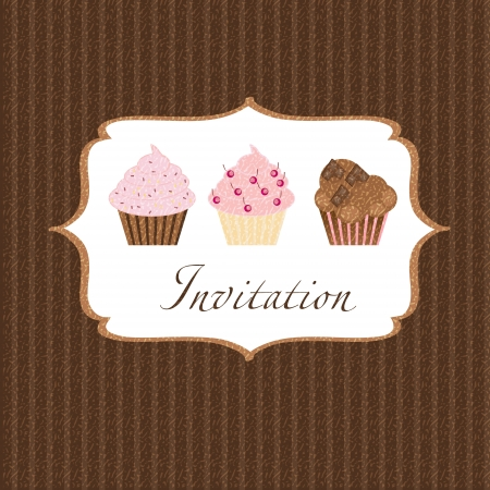 cupcake invitation background photo
