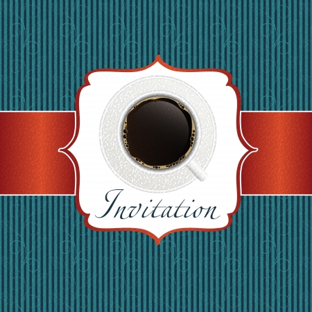 coffee invitation background Stock Vector - 17539432