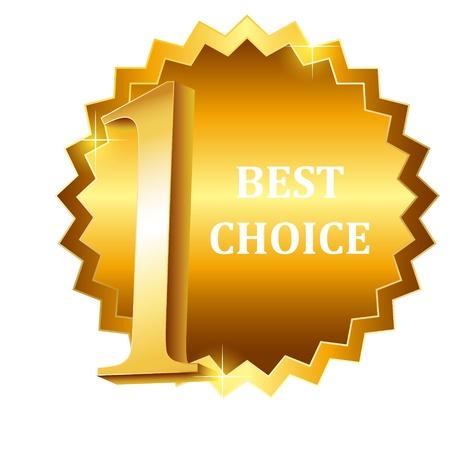 Vector best choice label Stock Vector - 17527420