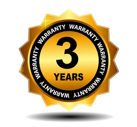 Gold vector guarantee sign, warranty label Stock Vector - 17527498