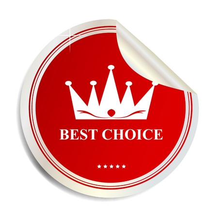 Vector Best choice label  sticker Stock Vector - 17539838