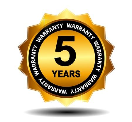 2 to 3 years: Oro vettore garanzia segno, l'etichetta di garanzia