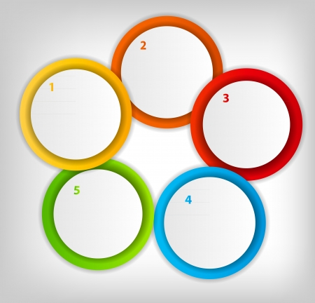 Concept of colorful circular banners with arrows for different b Stock Vector - 17539947