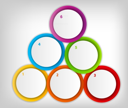 Concept of colorful circular banners with arrows for different b Stock Vector - 17539950