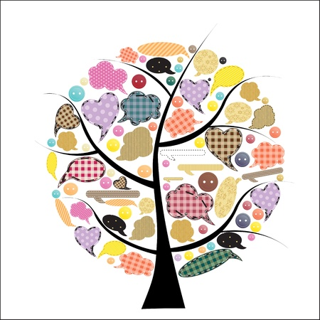 Abstract Vector spring tree illustration Stock Vector - 17539952