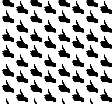 Hand signal on white  Seamless  vector illustration Stock Vector - 17540777