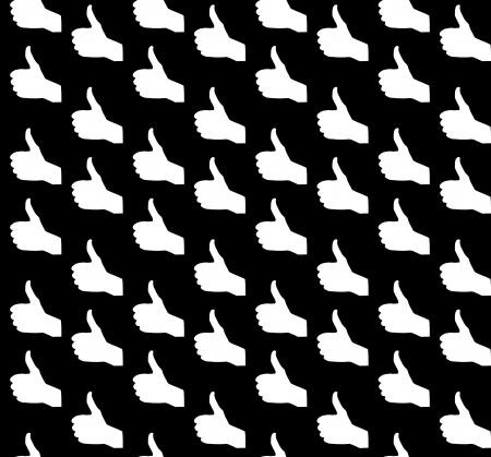 Hand signal on white  Seamless  vector illustration Stock Vector - 17540796