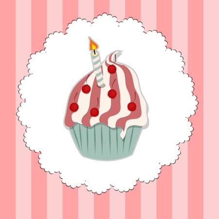 Cupcake invitation card vector illustration Vector