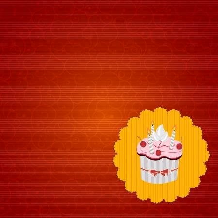 Cupcake invitation card vector illustration Stock Vector - 17594294
