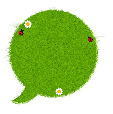 Gresh green grass speech bubble  Vector illustration Stock Vector - 17596616