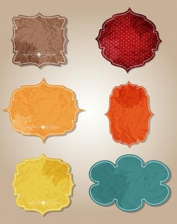 aged paper labels vector illustration illustration