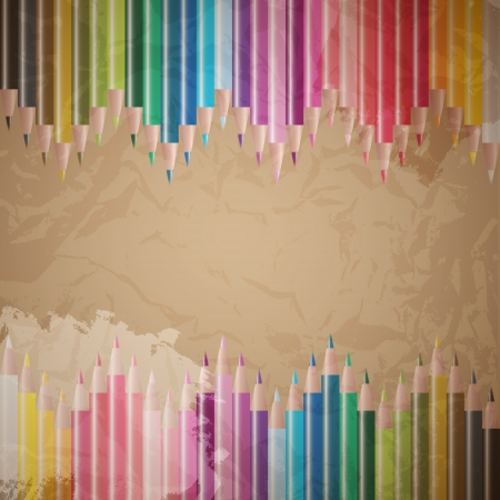 vector set of colored pencils Stock Vector - 17825623