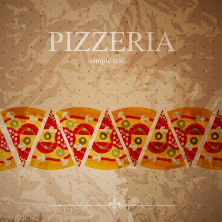 Pizza Menu Template, vector illustration Vector