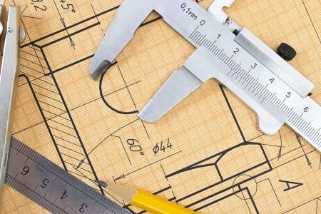 calipers: Mechanical circuit, a ruler, compass, calipers