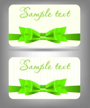 Card with bow and ribbon  Vector illustration Stock Vector - 17925081
