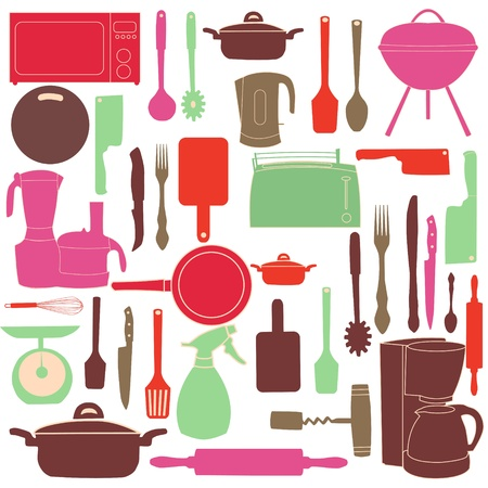 urea: vector illustration of kitchen tools for cooking