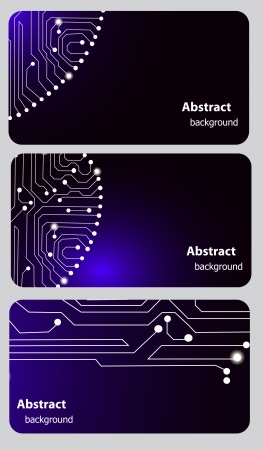 Busitess card templates with Circuit board Vector