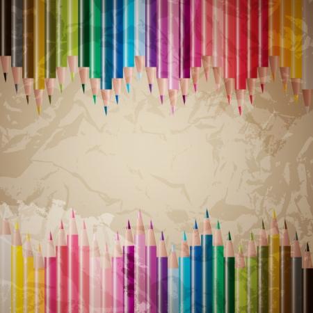 vector set of colored pencils Stock Vector - 18024447