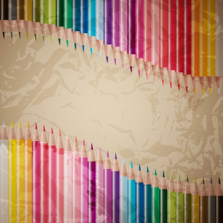 vector set of colored pencils Stock Vector - 18024449
