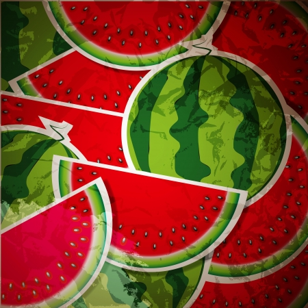 Background from watermelon. Vector