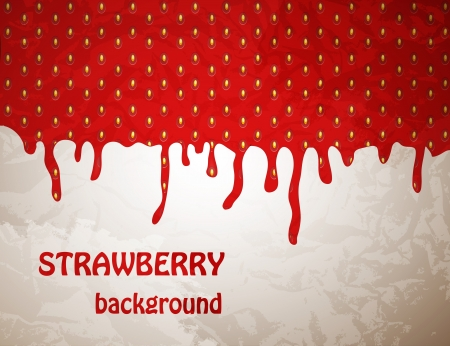 Fresh Strawberry background, Vector Illustration Stock Vector - 18024579