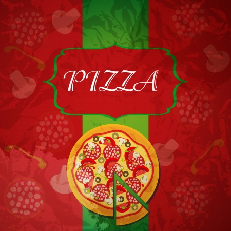 Pizza Menu Template, vector illustration illustration