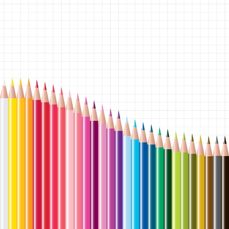 vector set of colored pencils Stock Vector - 18158586