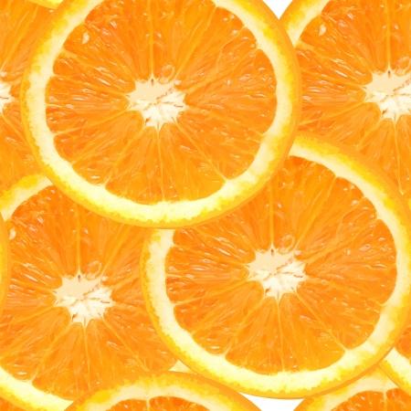Fresh juicy orange seamless pattern background vector illustrati Vector