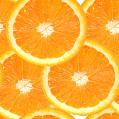 illustrati: Fresh juicy orange seamless pattern background vector illustrati