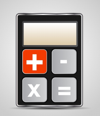 Vector calculator icon with gray buttons Stock Vector - 18816464