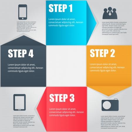 flèche double: Modèle d'affaires Infographie Illustration