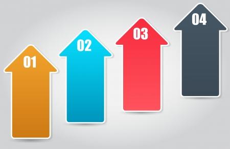 flèche double: Infographie illustration vectorielle modèle d'affaires