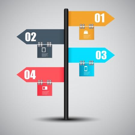 diagrama: Infograf�a plantilla de ilustraci�n vectorial de negocio Vectores