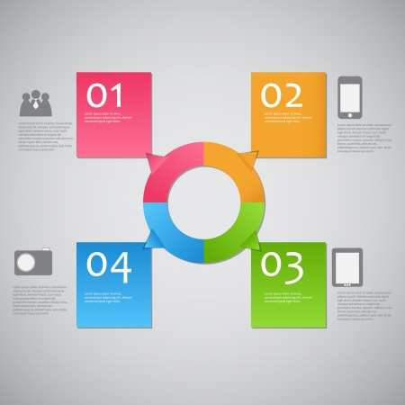 Infographic template  illustration