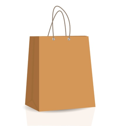 white paper bag: Empty Shopping Bag  for advertising and branding