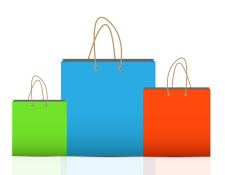 Empty Shopping Bag  for advertising and branding  Stock Vector - 19212005