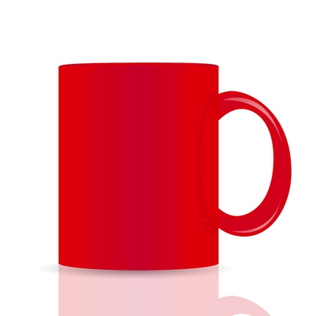 red vector cup isolated on white background Vector