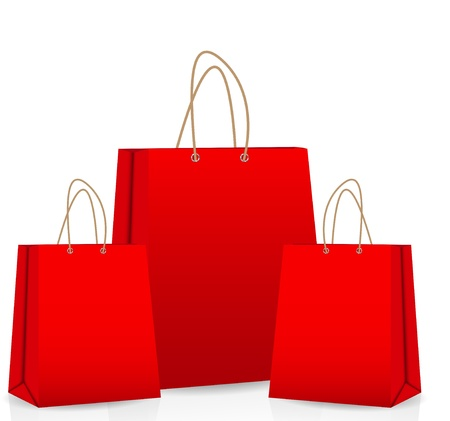 shopping bags: Empty Shopping Bag  for advertising and branding vector illustra