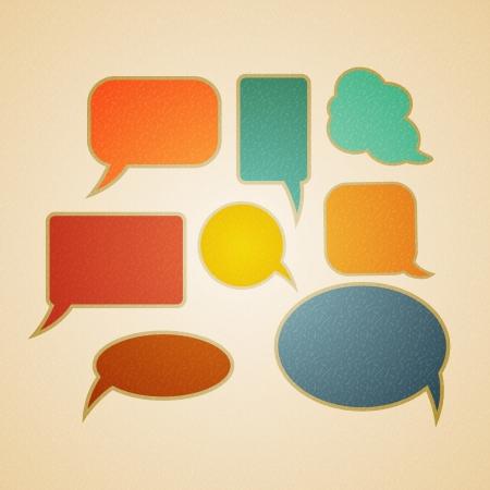 Speech bubbles in retro style illustration Vector