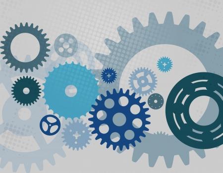 meshed: Machine Gear Wheel Cogwheel  pattern  illustration  Stock Photo