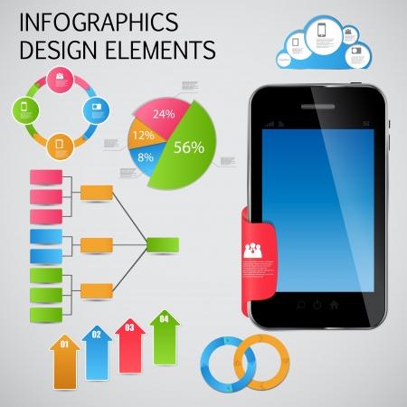 graficos de barras: Infograf?a plantilla de ilustraci?n