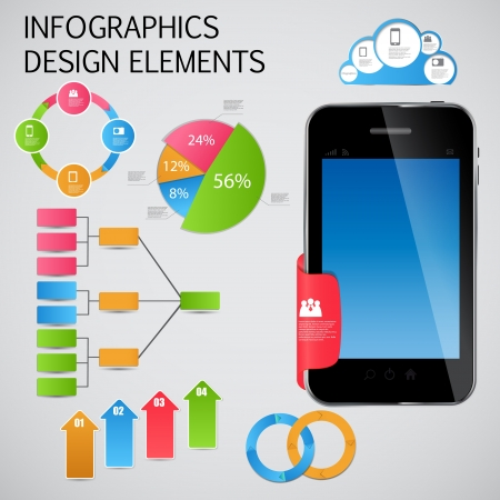 Infographic template business illustration Vector