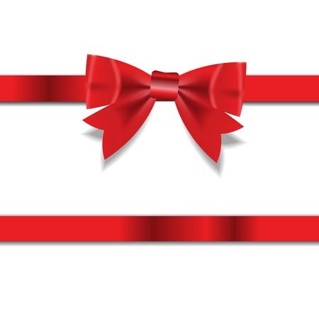 christmas ribbon: Red Gift Ribbon   Vector illustration