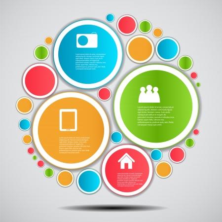 fl�che double: Infographie mod�le illustration vectorielle d'affaires
